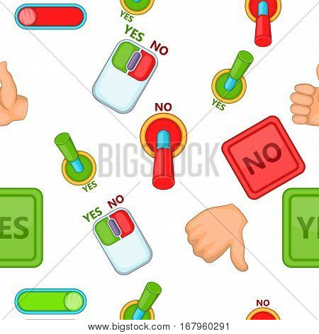 Choice pattern. Cartoon illustration of choice vector pattern for web