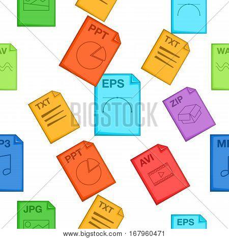 Document types pattern. Cartoon illustration of document types vector pattern for web