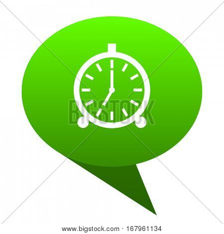 alarm green bubble web icon