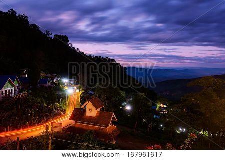 Mountain View At Twilight, Chiang Rai