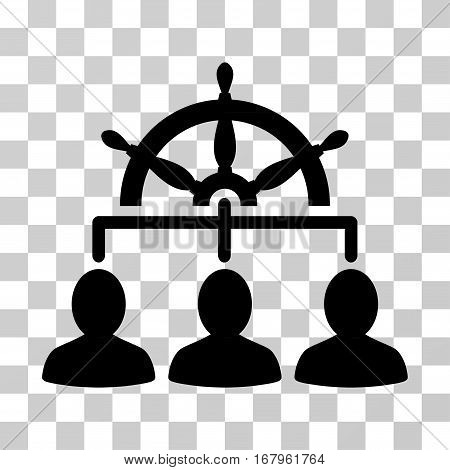Management Steering Wheel icon. Vector illustration style is flat iconic symbol, black color, transparent background. Designed for web and software interfaces.