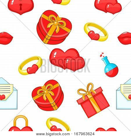 14 February pattern. Cartoon illustration of 14 february vector pattern for web