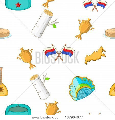 Russia pattern. Cartoon illustration of Russia vector pattern for web