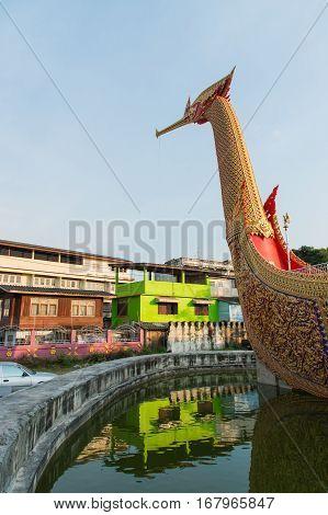 WAT CHA LOR TEMPLE Suphannahong Boat NONTHABURI Thailand