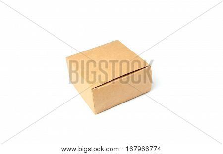 Small cardboard box isolated on a white background.