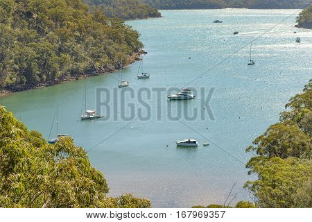 View from America Bay Track in the Ku-Ring-Gai Chase National Park New South Wales Australia.