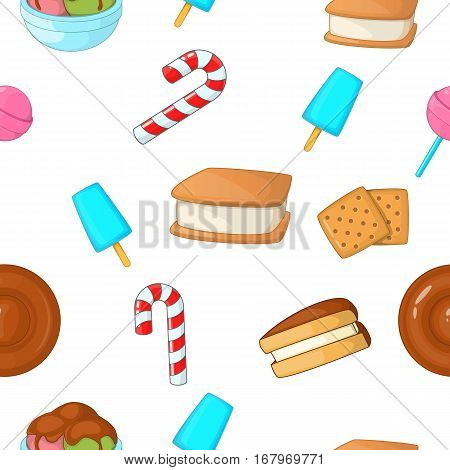 Patisserie pattern. Cartoon illustration of patisserie vector pattern for web