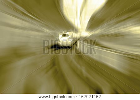 high speed train concept abstract background .