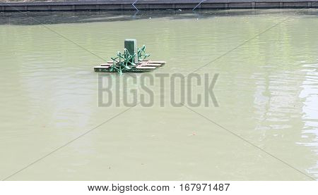 Chaipattana Aerator water pollution treatment machine aeratorThailand.