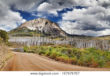 Kebler Pass and Marcellina Mountain view, Crested Butte, Colorado, USA