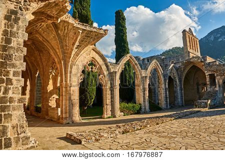 Bellapais Abbey in Kyrenia, Northern Cyprus