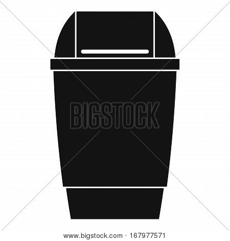Flip lid bin icon. Simple illustration of flip lid bin vector icon for web