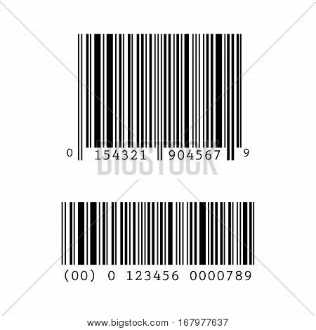 Set, collection of barcode templates isolated on white background.
