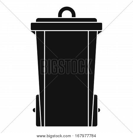 Garbage bin icon. Simple illustration of garbage bin vector icon for web