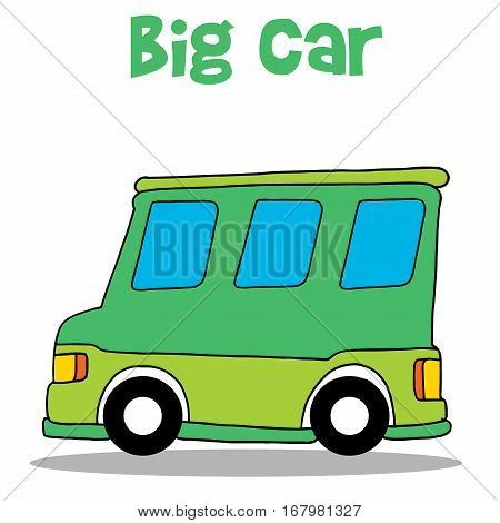 Big car of vector art collection stock