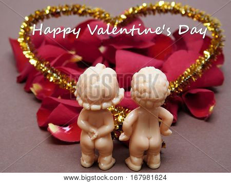 Couple of dolls in love,Valentine's Day theme
