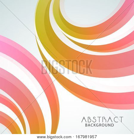 Colorful Abstract waves decorated Background.