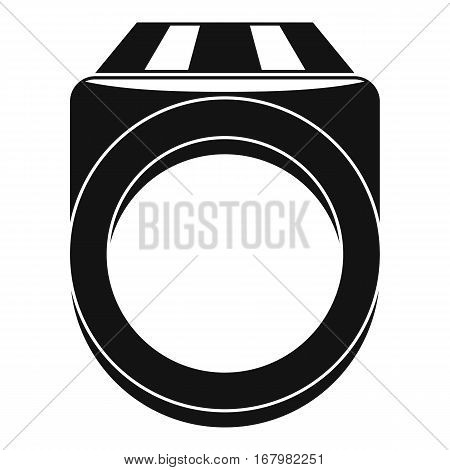 Ring icon. Simple illustration of ring vector icon for web