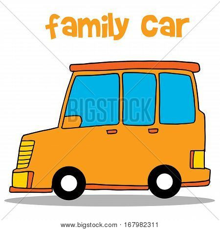 Collection stock of family car vector art