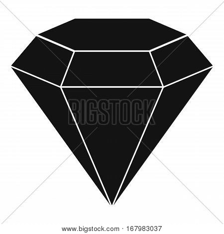 Brilliant gemstone icon. Simple illustration of brilliant gemstone vector icon for web