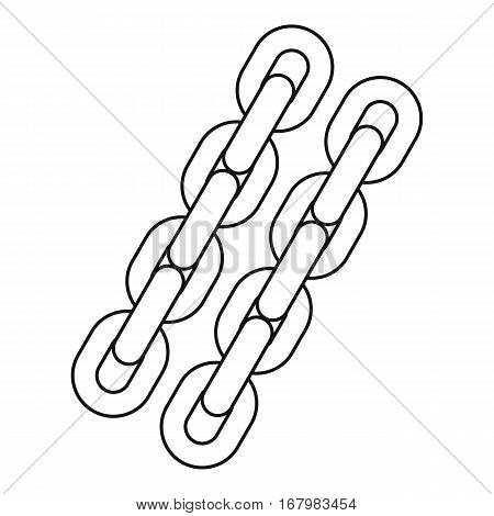 Two chains icon. Outline illustration of two chains vector icon for web