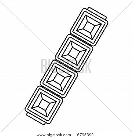 Chain jewelry icon. Outline illustration of chain jewelry vector icon for web