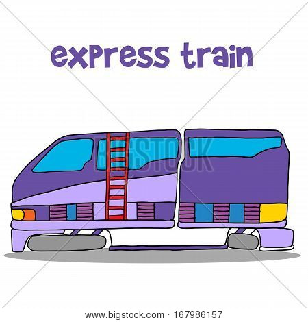 Illustration of express train cartoon vector art