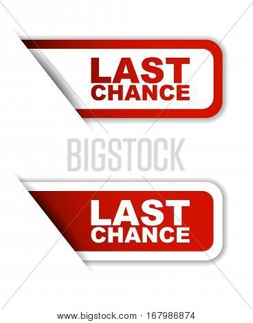 This is red set vector paper stickers last chance