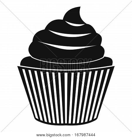 Cupcake icon. Simple illustration of cupcake vector icon for web