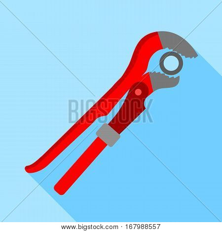 Pipe or monkey wrench icon. Flat illustration of pipe or monkey wrench vector icon for web design