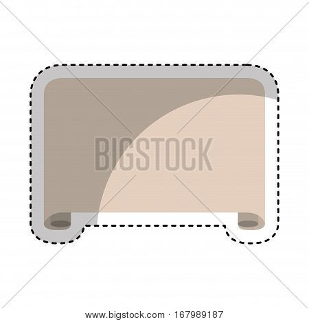 Parchment paper isolated icon vector illustration design