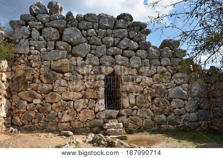 The archaeological sites of Mycenae and Tiryns have been inscribed upon the World Heritage List of UNESCO. Greece. Ruins of the defence stone wall