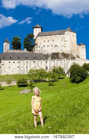 little girl near Rappottenstein Castle, Lower Austria, Austria