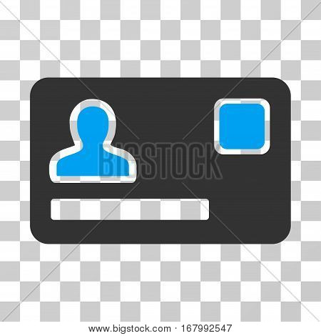 Banking Card icon. Vector illustration style is flat iconic bicolor symbol, blue and gray colors, transparent background. Designed for web and software interfaces.