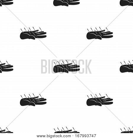 Acupuncture icon in black style isolated on white background. Medicine and hospital pattern vector illustration.