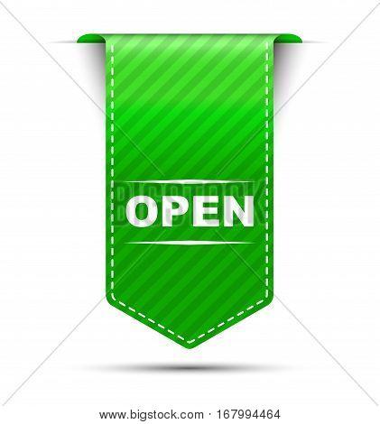 This is green vector banner design open