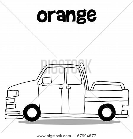 Hand draw of car vector art collection stock
