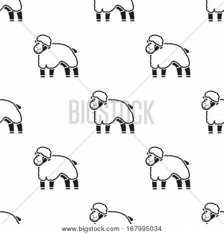 Sheep icon black. Single bio, eco, organic product icon from the big milk black. - stock vector