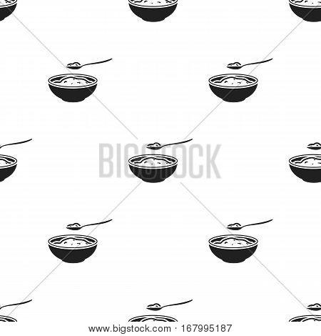 Cottage cheese icon black. Single bio, eco, organic product icon from the big milk black. - stock vector