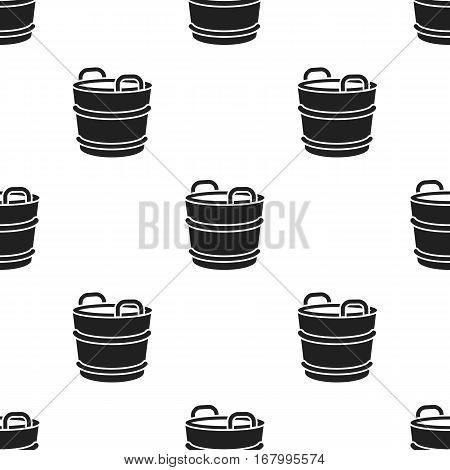 Milk bucket icon black. Single bio, eco, organic product icon from the big milk black stock vector