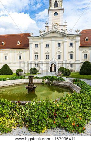 benedictine monastery with garden in Altenburg, Lower Austria, Austria