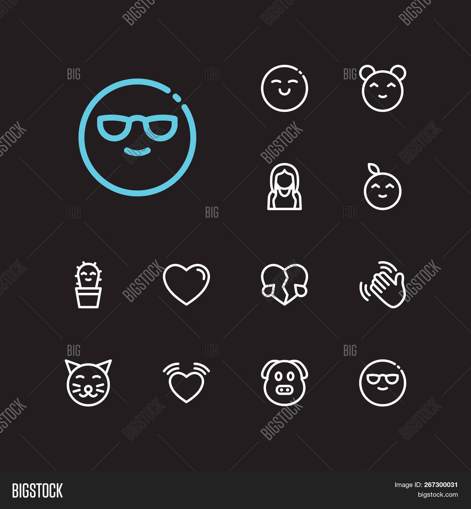 Emoji Icons  Set Emoji Image & Photo (Free Trial) | Bigstock
