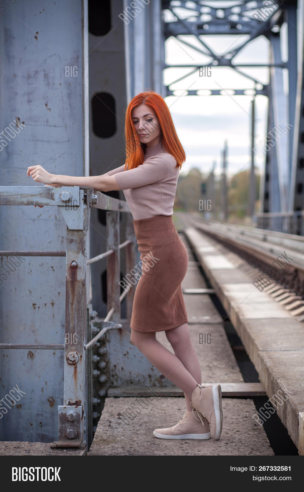 Cute Redhead Girl On Image Photo Free Trial Bigstock