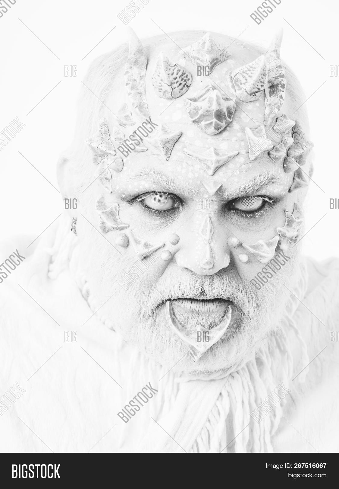 Reptilian Man Blind Image Photo Free Trial Bigstock