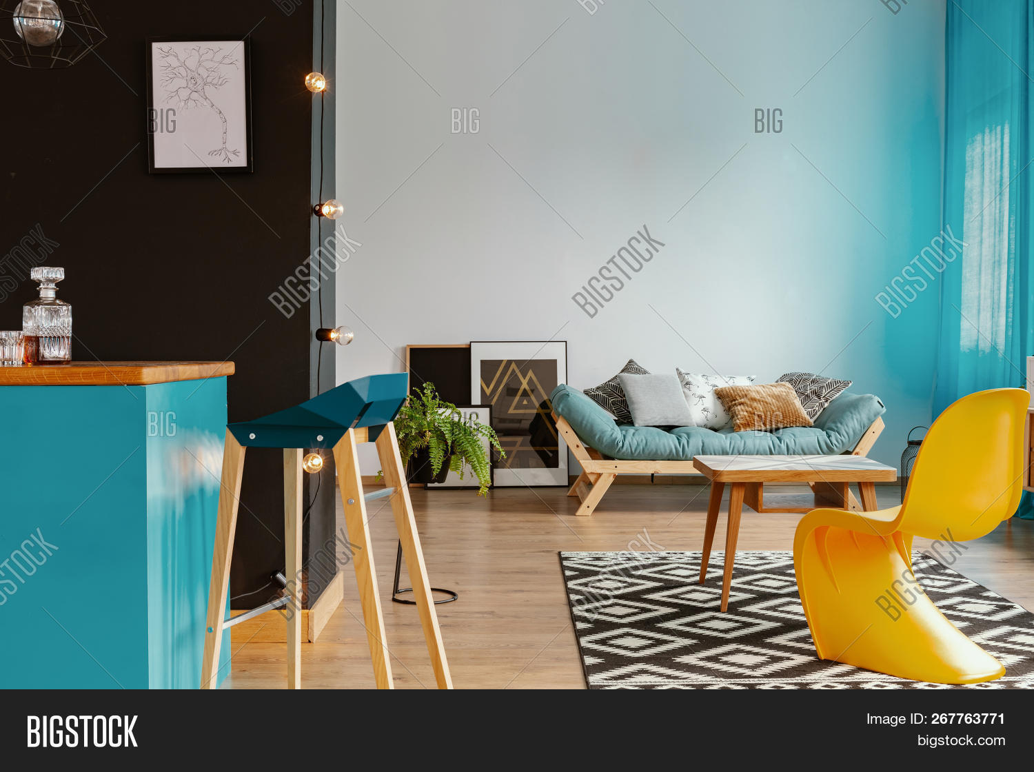 Black White Living Image & Photo (Free Trial) | Bigstock
