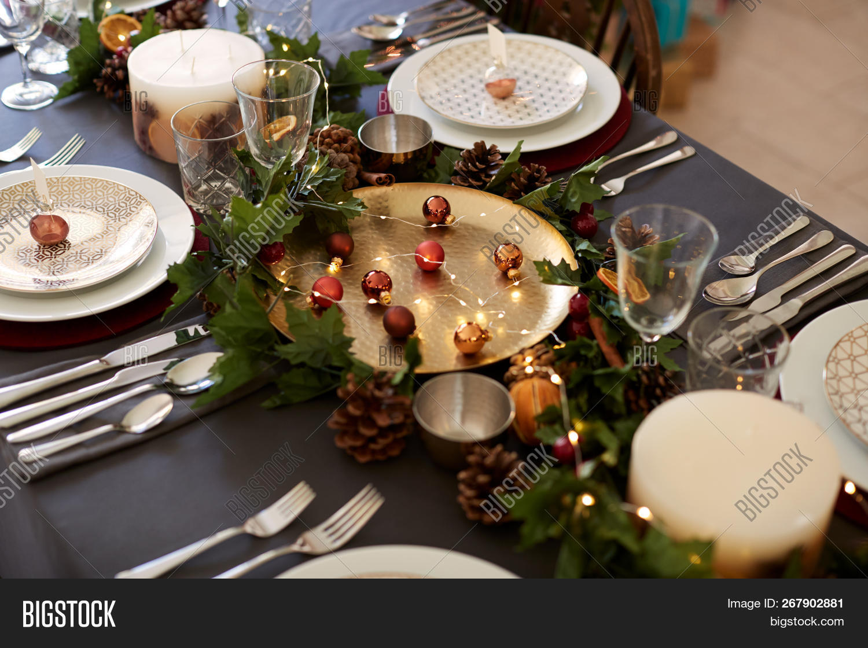 Christmas Table Image Photo Free Trial Bigstock