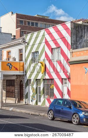 Cape Town, South Africa, August 17, 2018: A Surf Shop In The Bo-kaap In Cape Town In The Western Cap