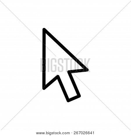 Computer Mouse Click Cursor Gray Arrow Icons Set And Loading Icons. Cursor Icon. Vector Illustration
