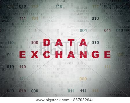Data Concept: Data Exchange On Digital Data Paper Background