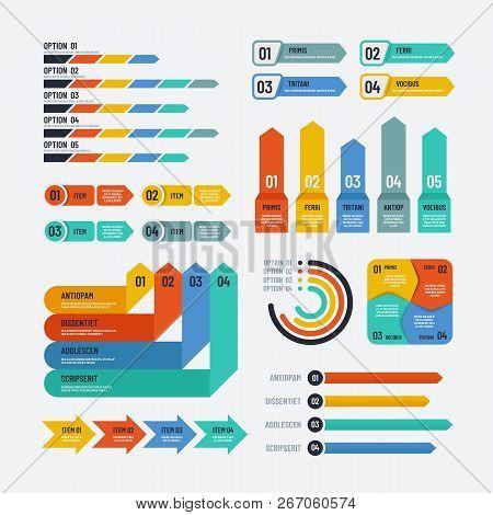 Presentation Infographics. Flowchart Timeline Process Chart Workflow Option Diagrams. Infographic Ve